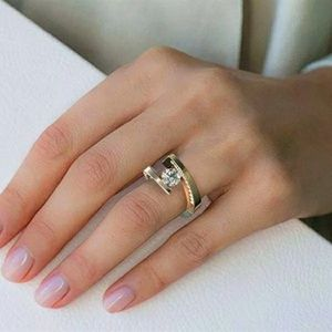 Female Crystal Stone Two colors Ring